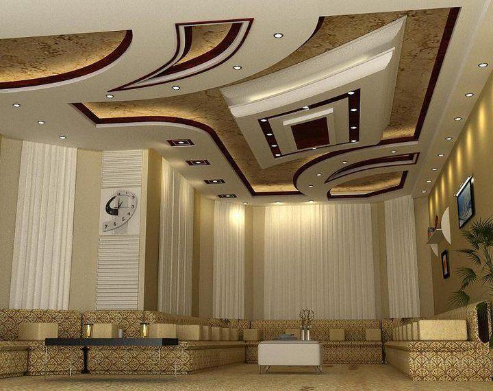 صورة ديكورات اسقف صالات اطلالة جميلة من الاعلى