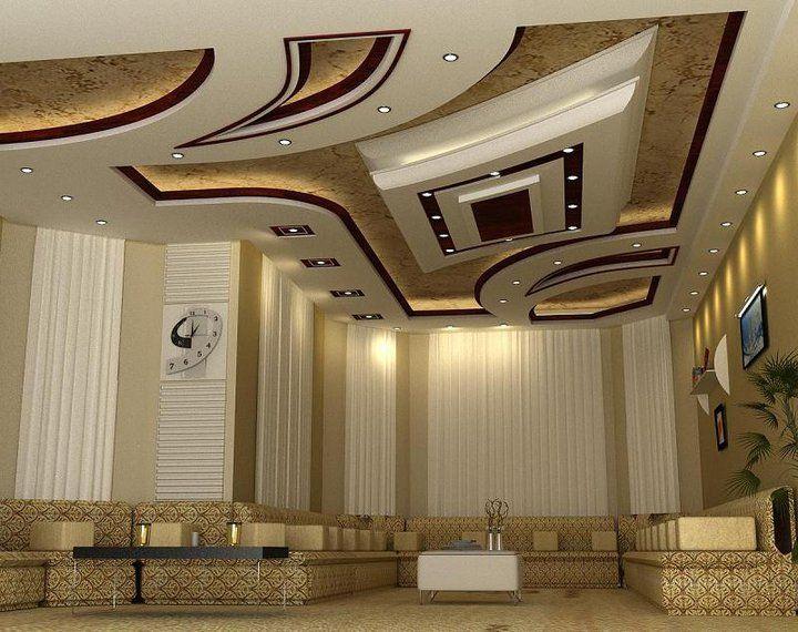 صور ديكورات اسقف صالات اطلالة جميلة من الاعلى