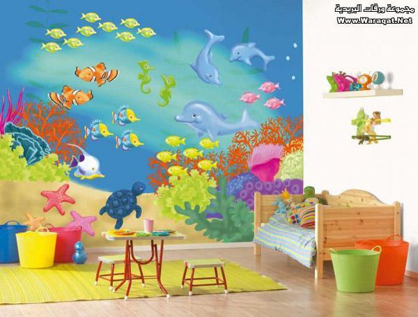 صورة ورق جدران غرف الاطفال
