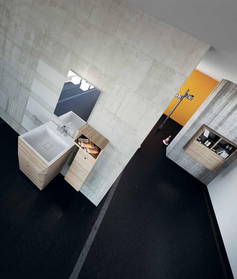 صورة استخدام الرفوف الخشبية للصحف والكتب والمجلات في الحمام