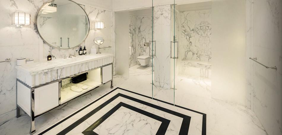 صورة الرخام من افخم واروع الخامات التي يمكنك استخدامها في تصميم الحمام