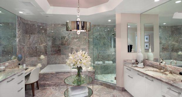 حمام من الرخام بالكامل قمة الابداع والخيال بالتصميم