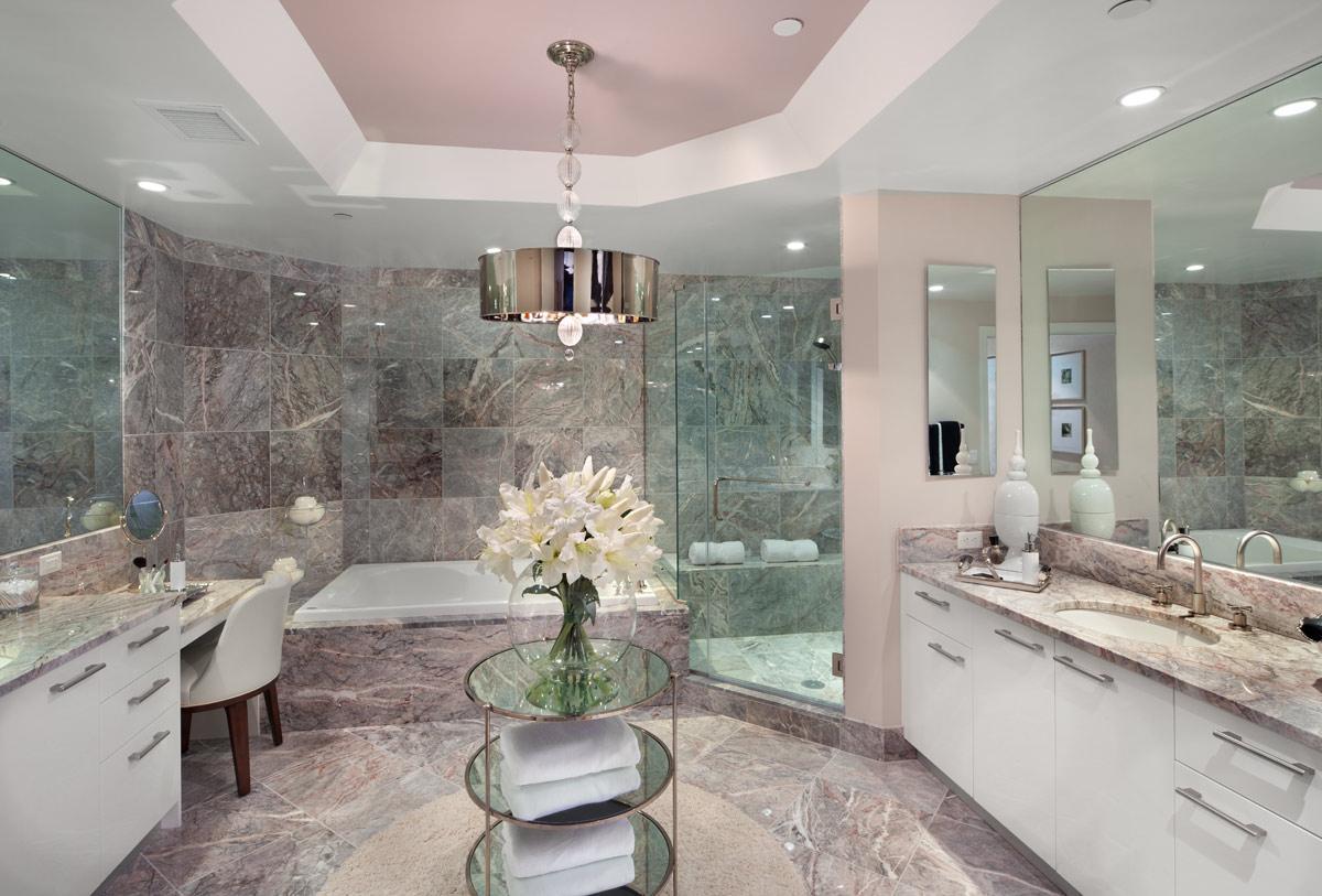 صور حمام من الرخام بالكامل قمة الابداع والخيال بالتصميم
