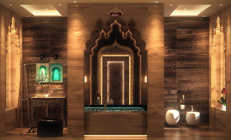 صورة زخارف ونقوش مستوحاة من التراث العربي للحمام