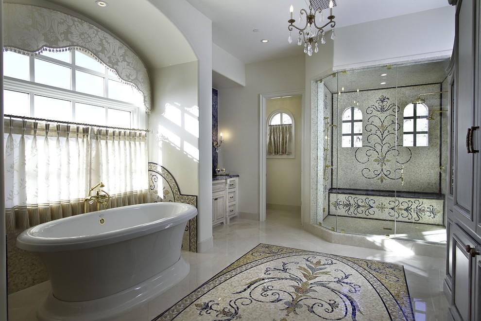 صور حمامات الموزاييك فخامة وروعة خامات تجعل الحمام تحفة فنية