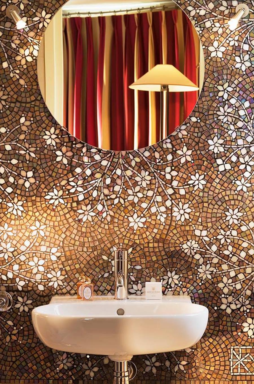 بالصور حمامات الموزاييك فخامة وروعة خامات تجعل الحمام تحفة فنية 33711 11