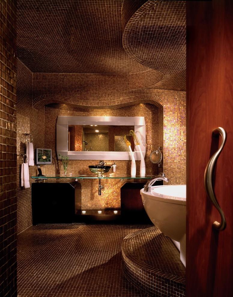 بالصور حمامات الموزاييك فخامة وروعة خامات تجعل الحمام تحفة فنية 33711 14