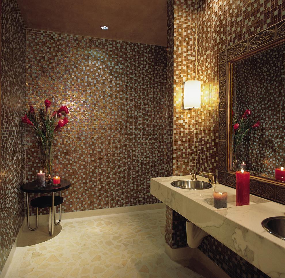 بالصور حمامات الموزاييك فخامة وروعة خامات تجعل الحمام تحفة فنية 33711 5