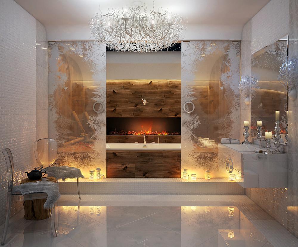 صورة عشاق الفخامة واللمسات الملكية في البيت اليك هذا الحمام الملكي