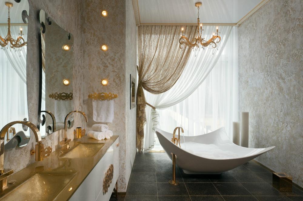 صور عشاق الفخامة واللمسات الملكية في البيت اليك هذا الحمام الملكي