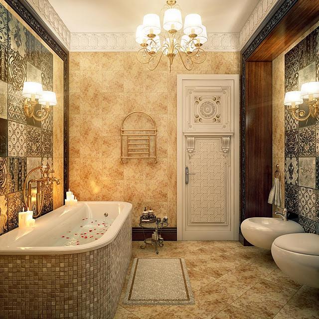 بالصور عشاق الفخامة واللمسات الملكية في البيت اليك هذا الحمام الملكي 33718 5