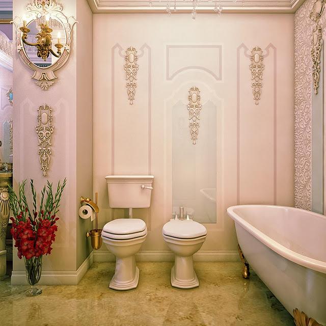 بالصور عشاق الفخامة واللمسات الملكية في البيت اليك هذا الحمام الملكي 33718 7