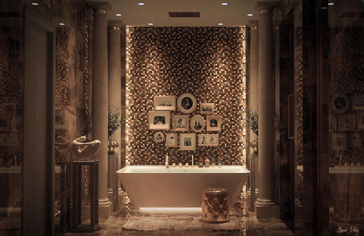 بالصور عشاق الفخامة واللمسات الملكية في البيت اليك هذا الحمام الملكي 33718 9