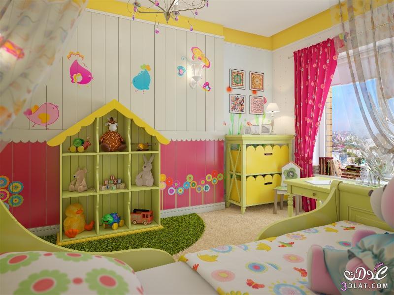 صورة ديكورات غرف اطفال روعه