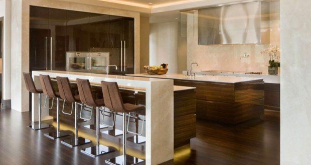 صور ديكورات منزلية مطابخ بار تصاميم مطابخ علي شكل بار