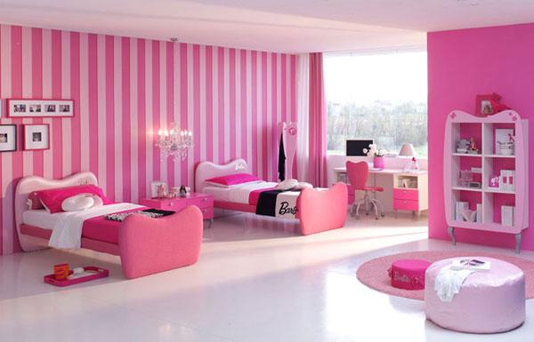 صور ديكورات غرف نوم بناتيه