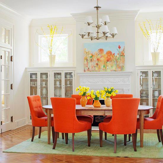 صور ديكورات باللون البرتقالي