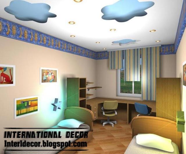 صور ديكورات اسقف لغرف الاطفال