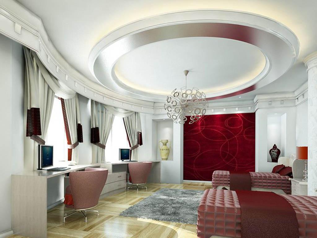 بالصور جبس امبورد غرف نوم modern pop ceiling for bedroom with amazing designs1
