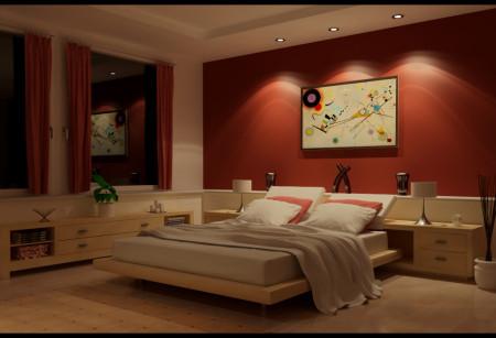صور ديكورات جدران غرف النوم